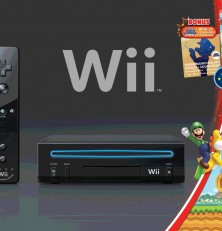 Wii Black Game Console with New Super Mario Brothers Wii and Music CD