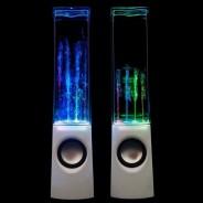 Water Dancing Lights Speakers – White