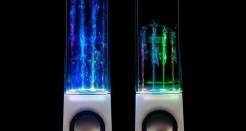 Water Dancing Lights Speakers – White